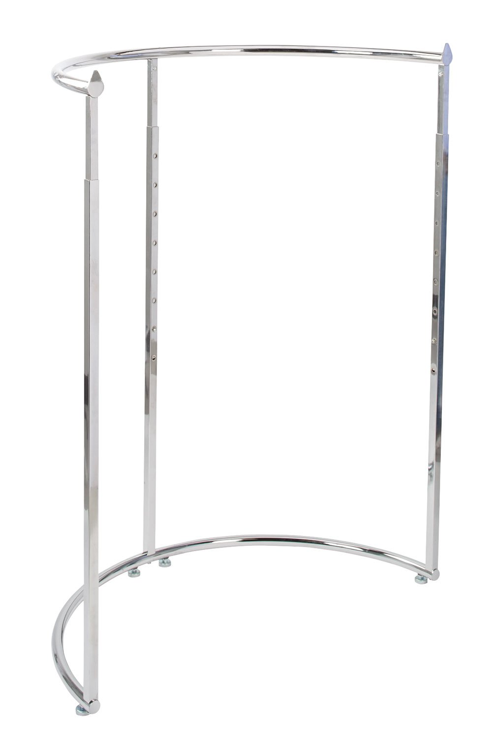 Half Round Clothing Rack - Chrome (44''W x 52''-72''H)