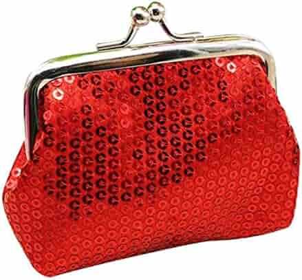 VIASA Women s Stylish Small Sequin Wallet Card Holder Coin Purse Clutch Handbag  Bag a353558da429f