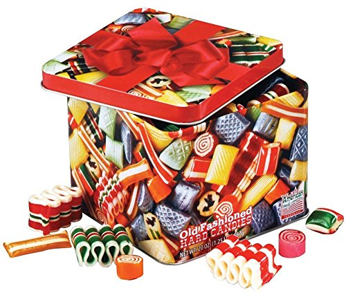 (Old Fashioned Christmas Holiday Classics Mix Hard Candy in Decorative Tin - 16 oz.)