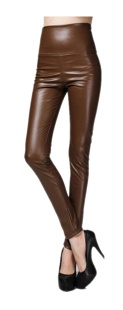 ARJOSA Women's Faux Leather High Waist Tights Skinny Leggings Pants GLK-30221