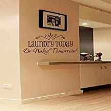 Laundry today DIY Art Wall Decal Decor Room Stickers Vinyl Home Mural Paper