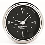 "Auto Meter 1785 Old TYME Black 2-1/16"" 12 Volt Electric Clock"