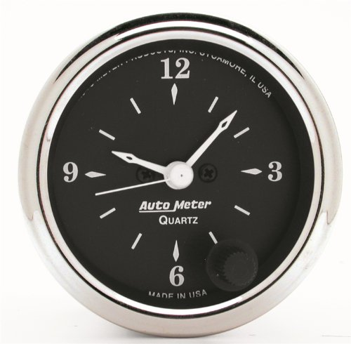 Autometer Clock - Auto Meter 1785 Old TYME Black Clock