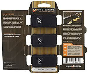 Gruv Gear FretWraps 3-Pack String Muters, Small, Black