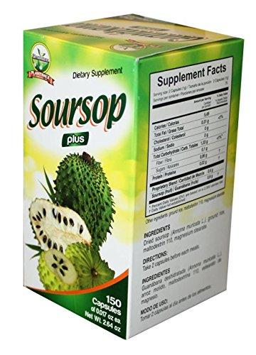 Amazon.com: Soursop Plus Capsules 150 ct. 500mg/ Capsulas de Guanabana: Health & Personal Care