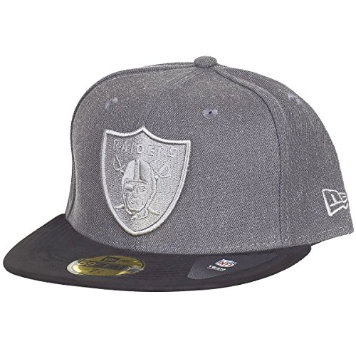 New Era 59Fifty Fitted Cap - HEATHER SUEDE Oakland Raiders