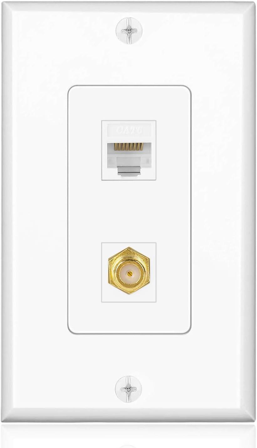 Tnp Coaxial Connector Ethernet Network Faceplate Amazon Co Uk Electronics