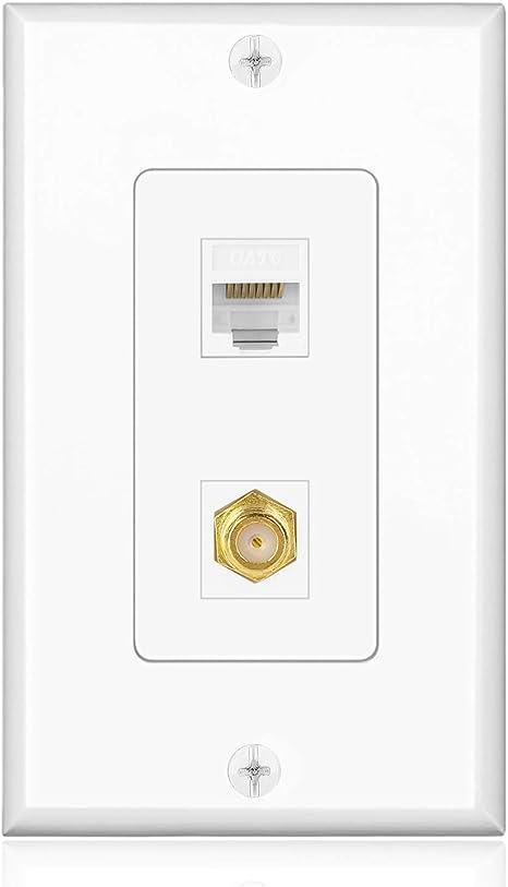 Amazon.com: TNP Conector Coaxial Coax F Conector de red ...