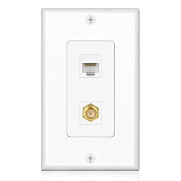 Incredible Tnp Coaxial Connector Ethernet Network Wall Plate Dual 2 Port Combo Wiring 101 Swasaxxcnl