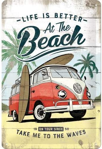 Amazon.com: Nostalgic-Art 22277 VW Bulli Vintage Beach ...