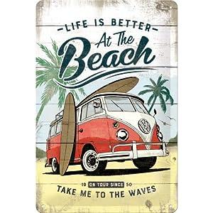 Tin Sign Nostalgic-Art 22188 Volkswagen-VW Bulli-The Original Ride 20 x 30 cm Metal Colourful