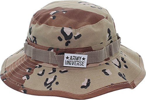 Army Universe Desert Camouflage Six-Color Tactical Boonie Bucket Hat with Pin - Size Large 7 (Desert Camouflage Camo Hat)