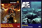 Atlantis The Lost Civilization , Quest For Solomon's Gold : A&E The History Channel Explore Ancient Mysteries : 2 Pack Collection