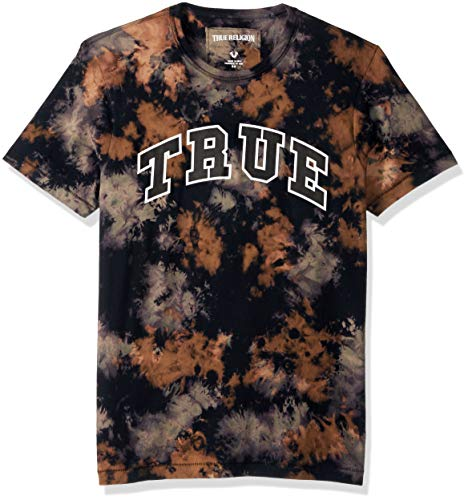 Logo Arched Tee (True Religion Men's Tie Dye Arched Logo Tee, Militant Green, M)