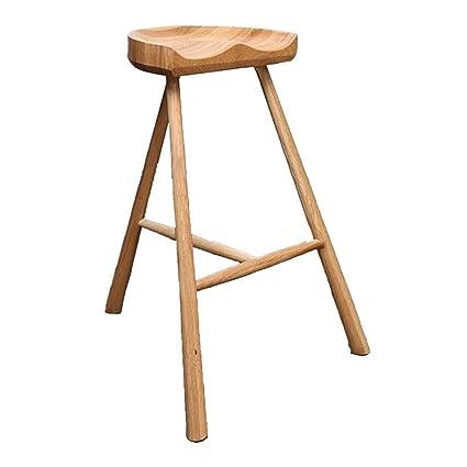 Pleasing Bar Stool White Oak Saddle Stool Pure Solid Wood Kitchen Ibusinesslaw Wood Chair Design Ideas Ibusinesslaworg