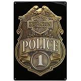Harley-Davidson Tin Sign - HD Police Shield