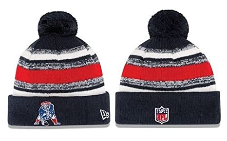 a590377c8 2014 NEW ENGLAND PATRIOTS TEAM SIDELINE BEANIE ON FIELD KNIT HAT CAP