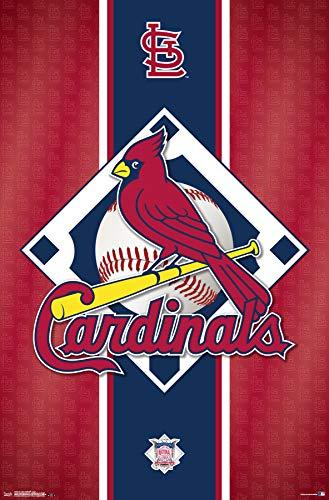 (Trends International St. Louis Cardinals-Logo Mount Bundle Wall Poster 22.375