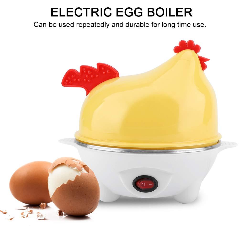 Plastic Multifunctional Electric Chick-Pattern Egg Boiler Breakfast Cooker Kitchen Poacher Yellow