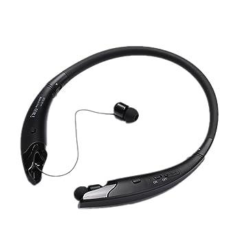 ... inalámbricos estéreo, banda para el cuello con diseño retráctil y plegable, auriculares con micrófono para teléfonos móviles iOS y Android: Amazon.es: ...