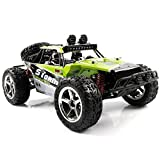100 mph battery for rc cars - AHAHOO 1:12 Scale RC Cars 35MPH+ High Speed Off-Road Remote Control Vehicle 2.4Ghz Radio Controlled Racing Monster Trucks Rock Climber with LED Light Vision (Green)