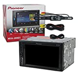 2017 Pioneer Car Audio Double Din 2DIN 6.2 Touchscreen Digital Media Stereo Built-in Bluetooth & DCO Waterproof Backup Camera with Nightvision