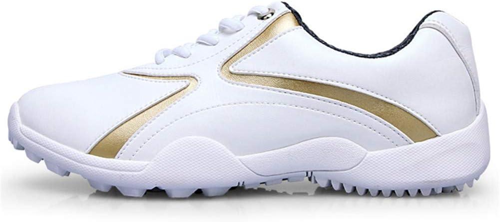 WOIQ Zapatos de Golf Zapatos de Golf Antideslizantes Impermeables y Transpirables para Mujer Zapatillas de Deporte Zapatillas de Deporte para Mujeres: Amazon.es: Hogar