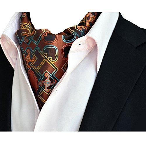 Silk Dlj Premium Ascot YCHENG Paisley Wedding NeckTies Cravat 12 Mens Tie Scarf BE5qAx