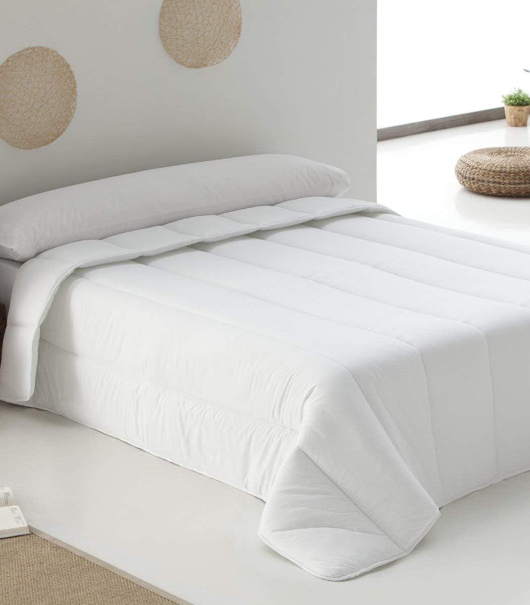 Belnou Hestia-Edredón Relleno Nórdico Blanco De 400 Gr, Tacto Seda, Confort Invernal, (Cama 180 (260 X 240 Cm)
