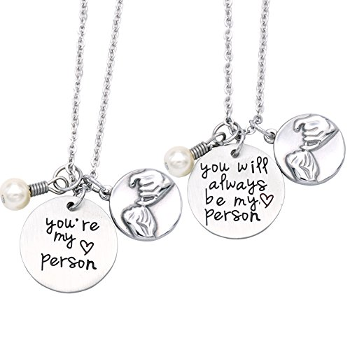 O.RIYA Not Whole Without You/You're My Person Necklace Stainless Steel Necklace Jewelry Gift, Bridesmaid Gift, Thank you Gift, Wedding Gift , Gift for Friends (Necklace-Set)
