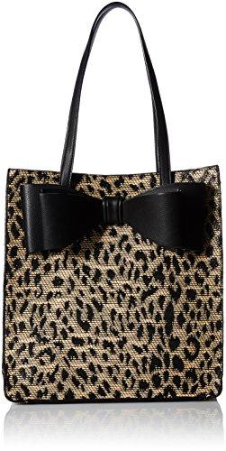 Betsey Johnson Mighty Jungle Leopard Print Bow ()