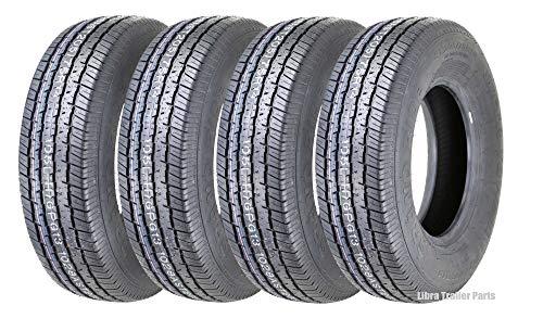Set of 4 New Grand Ride Premium Trailer Tires ST 205/75R14 8PR Load Range D - 11079