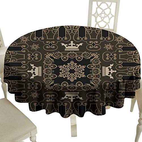 WinfreyDecor Polyester Tablecloth Wallpaper Seamless Pattern Indoor Outdoor Camping Picnic D63