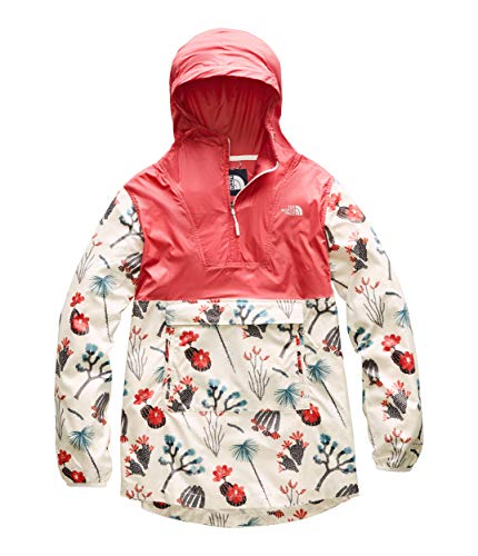 The North Face Women's Printed Fanorak Spiced Coral/Vintage White Joshua Tree Print Large (Womens Anorak)