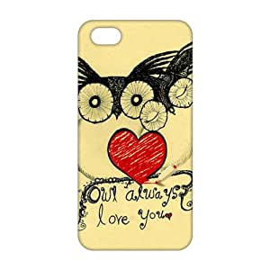 Evil-Store Cartoon lovely owl 3D Phone Case for iPhone 5s