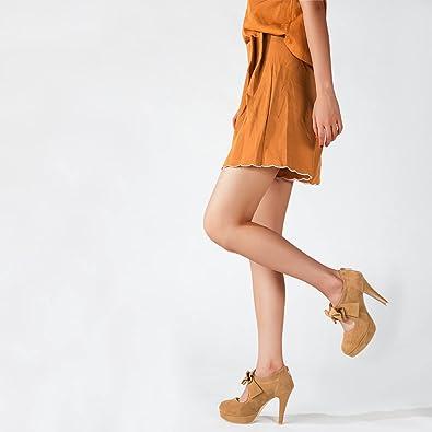 Details about  /fereshte Women/'s Platform High Heels Pumps Shoes with Bowknot