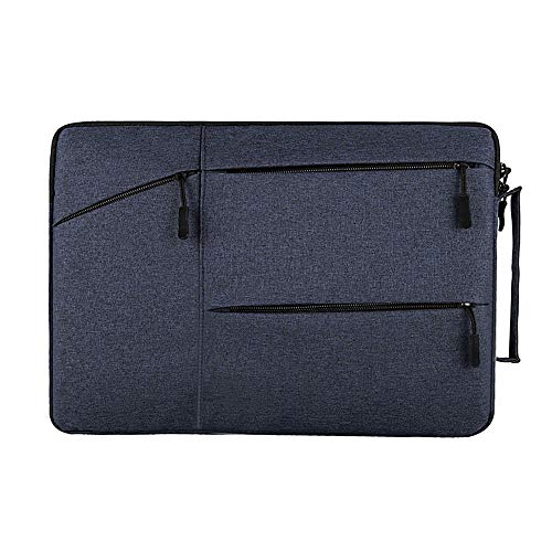 13-13.3 inch Laptop Sleeve Briefcase, Techcircle Water-Resistant Carrying Bag with Handle for MacBook Pro/Air 13, Huawei MateBook X Pro, Lenovo Yoga 13.3, ASUS Acer Dell HP Notebook Tablet Case, Navy