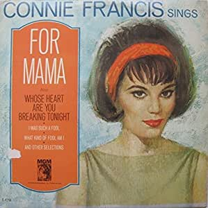 Connie Francis - Connie Francis Sings for Mama - Amazon
