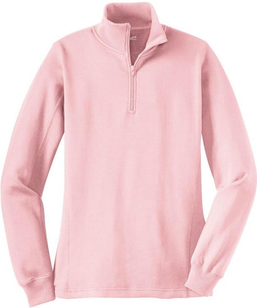 Joe's USA Ladies Soft & Cozy Athletic 1/4-Zip Sweatshirts in Sizes XS-4XL