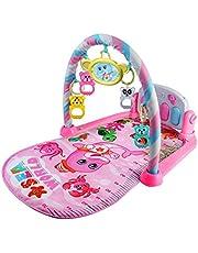 biteatey Piano gym baby lekfilt med musik och 5 hängen, leksak babyutrustning från födseln, pedagogisk leksak rationell
