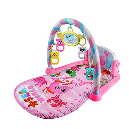 (Juan_Baby Pedal Piano Bodybuilding Instrument - for Newborn Baby Music Game Blanket Toy Ringing Bell - Baby Fitness Game Pad)