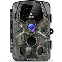 Victure Trail Camera with Night Vision Motion Activated Waterproof 12MP 1080P Game Camera with 120°View for Wildlife and Home Surveillance