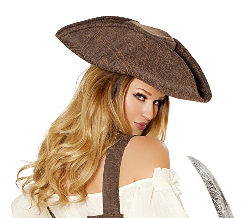 [Roma Costume Women's Beautiful Pirate Maiden Hat, Brown, One Size] (Pirate Maiden Adult Costumes)