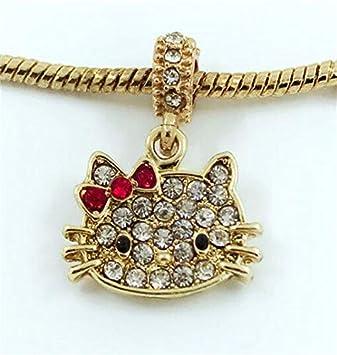 1pcs  Silver European Charm Crystal Spacer Beads Fit Necklace Bracelet DIY ~!