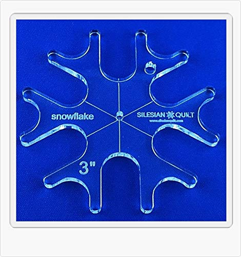 Template for Quilting Snowflake 3 inches Silesian Quilt