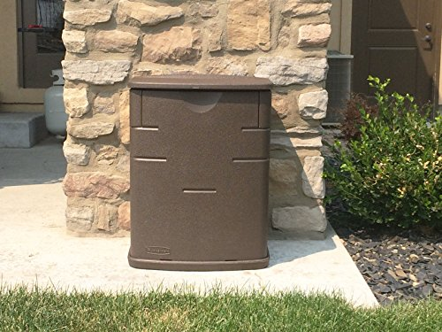 Rubbermaid Outdoor 2.6 cu. ft. Patio Storage Deck Box, Mocha by Rubbermaid (Outdoor Rubbermaid Bench)