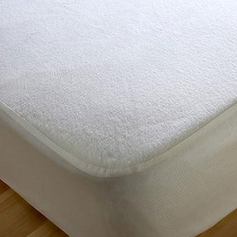 Resistente al agua de colchón tela de felpa de algodón para cama de matrimonio - toallero