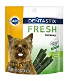 PEDIGREE DENTASTIX Fresh Mini Treats for Dogs - 5.26 oz. 21 Count (Pack of 6)