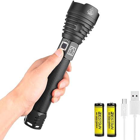 XHP90.2 8000LM LED Lampe frontale Puissant 18650 Lumi/ère USB Lampe frontale Zoom Banque de puissance Randonn/ée en plein air P/êche Lumi/ère///Paquet A