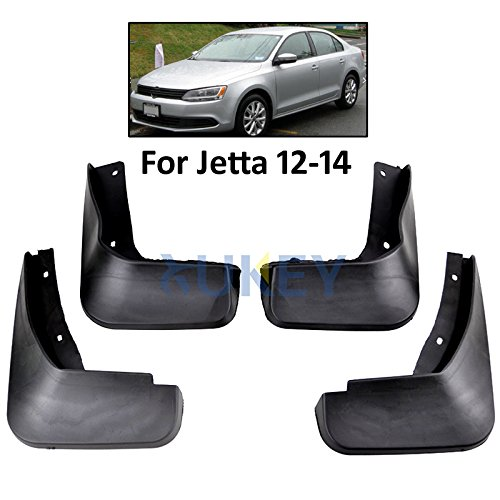 XUKEY Auto Molded Splash Guards for 2011-2014 VW Volkswagen Jetta MK6 Vento Mud Flaps - Front & Rear 4 Pieces Set